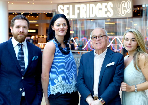 Marcello Distefano_MD San Carlo Group_Sam Watts_General Manager Selfridges Birmingham_Carlo Distefano_Chairman San Carlo Group and Sacha Distefano_Director San Carlo Group