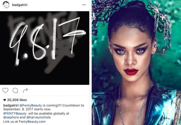 Rihanna Fenty Beauty launch