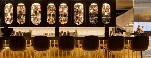 Enjoy a creative cocktail or two at the bar
