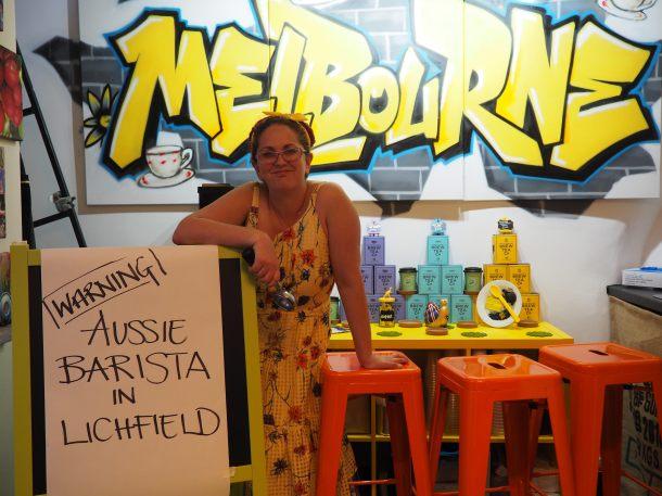 Aussie barista Deborah Pease