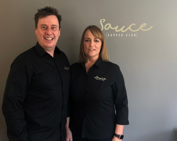 Jon and Beth Toovey, founders of Sauce Supper Club