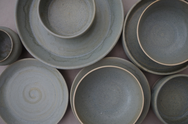Contemporary tableware is Carla's speciaity