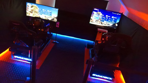 Gaming enthusiasts can test drive the simulators at the Alrewas showroom