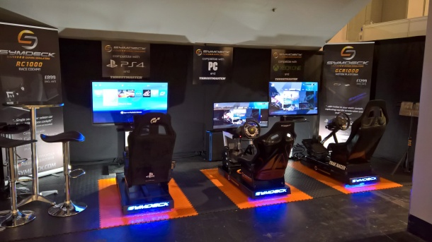 Symdeck demonstrated their range of simulators at a number of motorsports shows