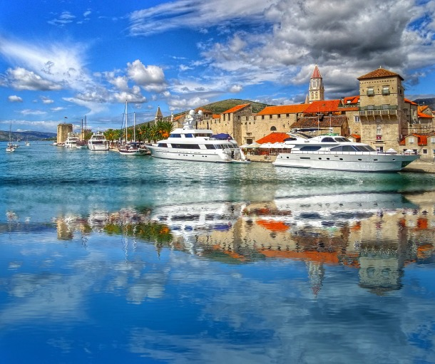 The glorious walled city of Trogir