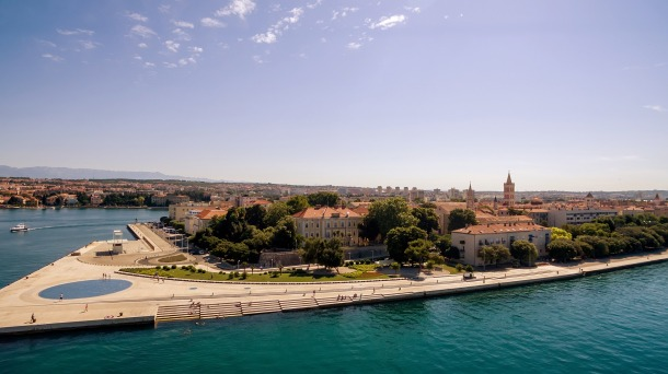 The waterfront town of Zadar