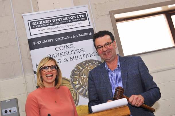 Amy Norbury learns the tricks of the trade from Richard Winterton