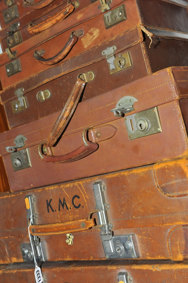 These vintage suitcases were a lot at the recent three-day auction