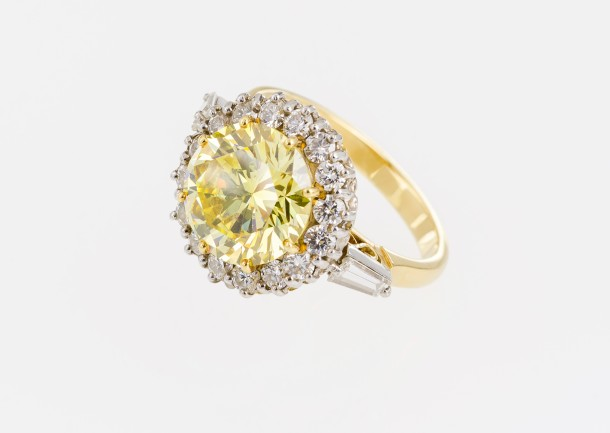 This stunning 4ct natural yellow diamond ring is set to star at auction